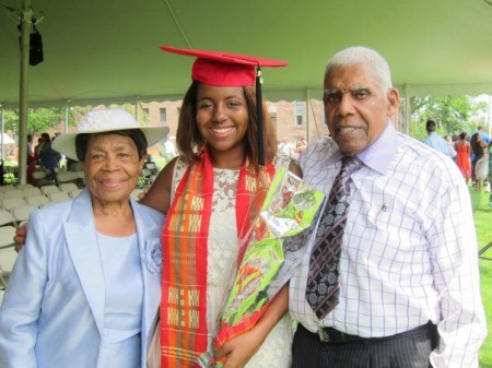 Amani & Grandmother & Grandfather