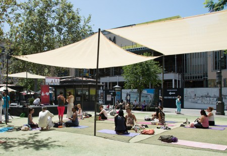 yoga at the Grove