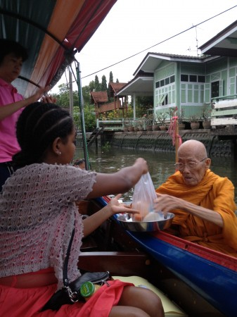 Making Alms to the monks
