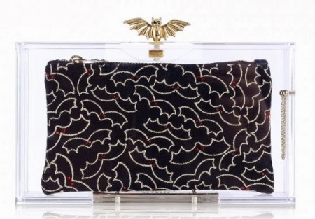 charlotte-olympia batty transparent clutch