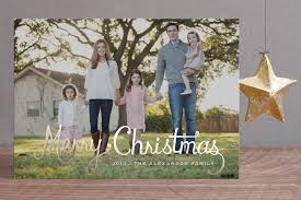 minted foil holiday cards