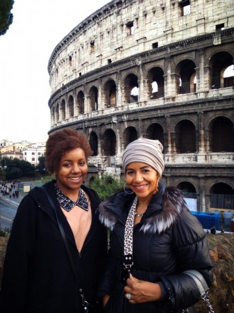 Gigi and Amani in Rome