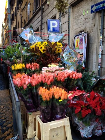 flowers are everywhere in Italy...these were sold from the back of a truck