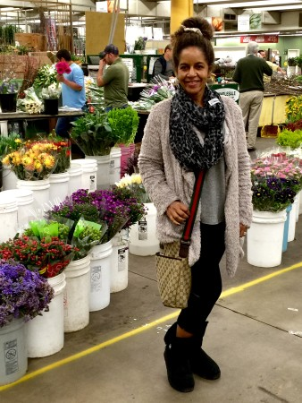 Gigi at the flower mart